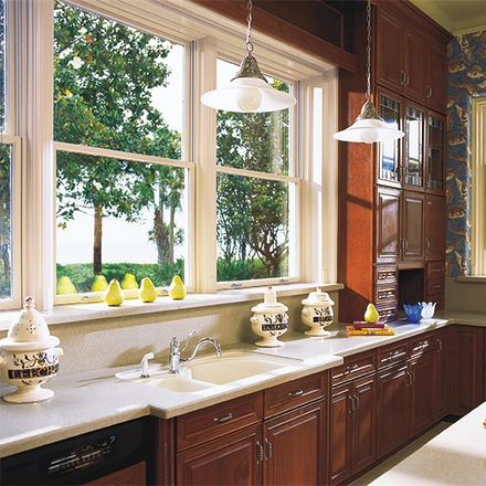 architect series single hung window kitchen
